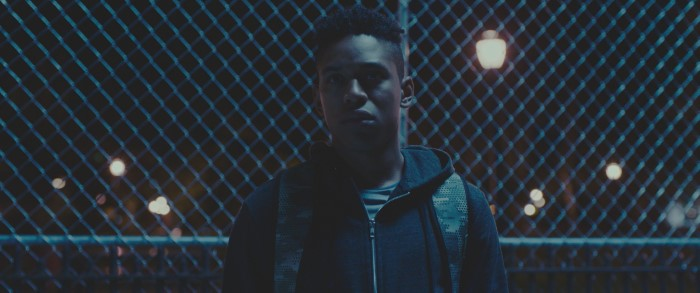 Kelvin Harrison Jr. as Zyrick in Monsters and Men. Courtesy of NEON.